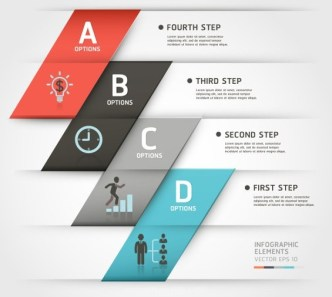 Fashion Vector Infographic Option Elements 01