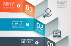 Vector Infographic Step By Step Elements 03
