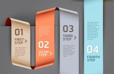 Vector Infographic Step By Step Elements 05