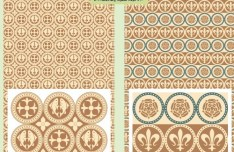 Vector Retro Pattern Background 01