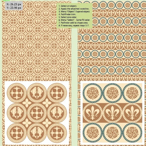 Vector Retro Pattern Background 01