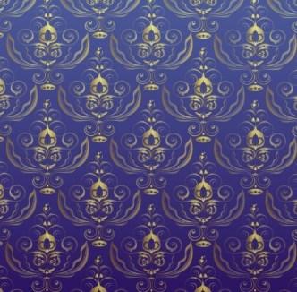 Vintage Seamless Floral Background 03