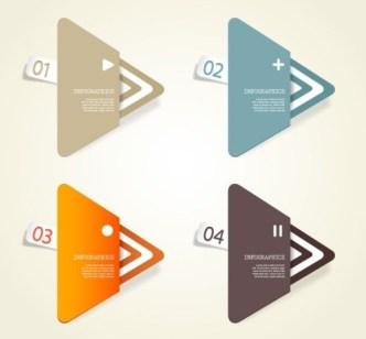 Creative Infographic Data Display Elements Vector 02