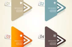 Creative Infographic Data Display Elements Vector 02