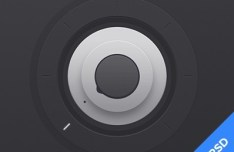 Dark Dial Knob PSD Design