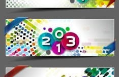 Set of Vector Colorful 2013 Banners