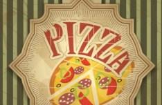 Vintage Pizza Badge Vector