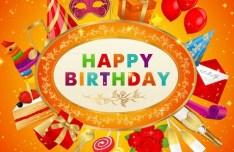 Fantastic Happy Birthday Vector Background 01