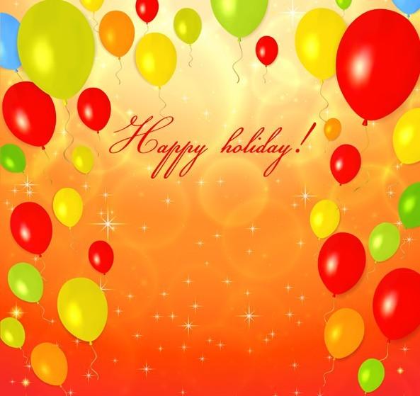 Free Fantastic Happy Birthday Vector Background 02
