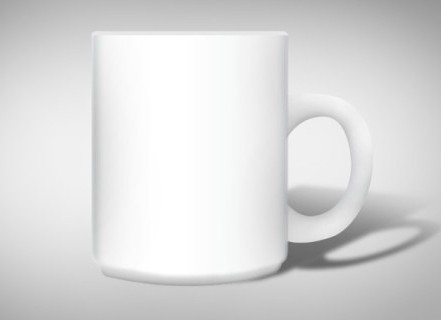 PSD White Mug Mockup