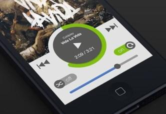 Spotify Flat iOS App UI PSD