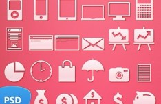 49+ Simple and Clean Web Icon Set PSD