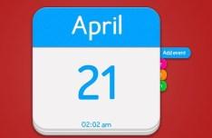 Blue and Withe Calendar App Icon PSD