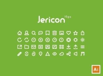 Jericon's 16px Mini Web Icon Set Vector