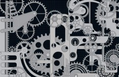 Technology Pattern Gear Vector Background 02