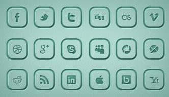 3D Blue Social Media Icon Set