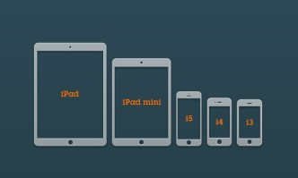 Apple Device Glyph Icons PSD