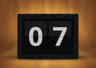 Flat and Dark Countdown Interface PSD