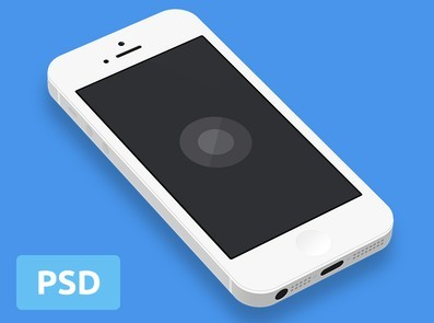 Minimal White and Black iPhone 5 Template PSD