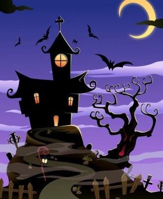 Cartoon Happy Halloween Scary Elements Vector 01