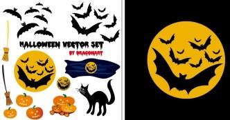 Cartoon Happy Halloween Scary Elements Vector 03