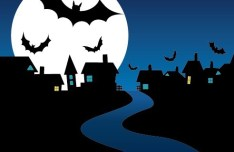 Cartoon Happy Halloween Scary Elements Vector 04