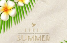 Colorful and Clean Vector Happy Summer Holiday Elements 01
