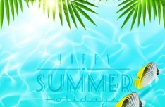 Colorful and Clean Vector Happy Summer Holiday Elements 03