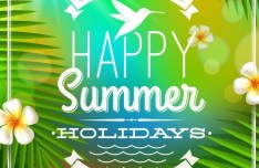 Colorful and Clean Vector Happy Summer Holiday Elements 04
