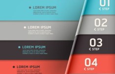Vector Creative and Colored Origami Infographic Data Elements 02