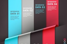 Vector Creative and Colored Origami Infographic Data Elements 03