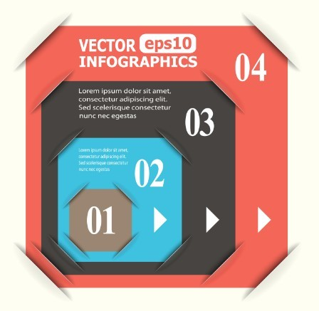 Creative Vector Origami Option Label For Infographic 05