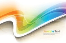 Colorful Vector Wavy Technology Background 01