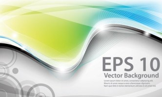 Colorful Vector Wavy Technology Background 03