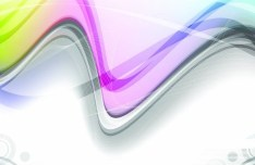 Vector Trendy Abstract Background with Wavy Curves 05