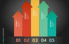 Colorful Paper Number Labels For Infographic Data 03
