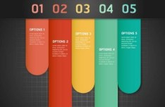 Colorful Paper Number Labels For Infographic Data 05