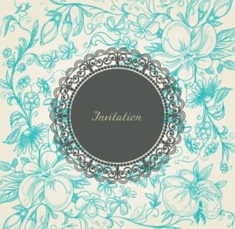 Vintage Floral Pattern Vector Background 01