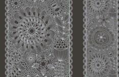 Vintage Floral Pattern Vector Background 02