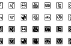 Sketched Social Icon Set (CSS Font Ready)