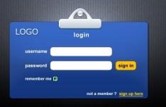 Corporate Identity-Like Login GUI PSD