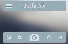 Gray-Blue App User Interface PSD