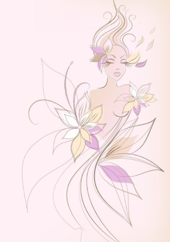 Vector Abstraction Flower Woman 02