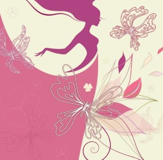 Vector Abstraction Flower Woman 03