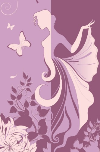 Vector Abstraction Flower Woman 05