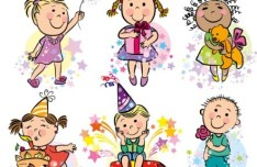 Vector Cartoon Happy Children's Day Elements 01