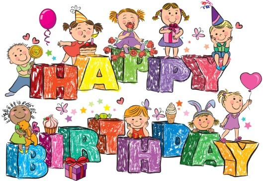 Cartoon Happy Birthday Vector Illustion