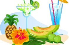 Vector Cartoon Happy Summer Day Design Elements 07