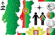 Vector Portugal Information Graphic Elements