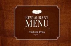 Vector Clean Restaurant Menu Design Template 05
